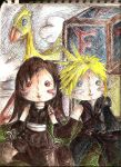 Cloud n Tifa plush by Kiome-Yasha