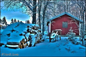 Red Shed HDR by LushChiller