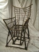 green wood chair by joewortley