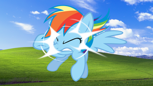 Windows Pony Wallpaper Rainbow Dash Only by RealBoser