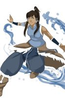 Korra doing some Waterbending by Falballa
