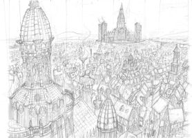 Noven, City of Harmundia (sketch) by Agalanthe