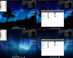Dark-blue desktop by Nielssonnich