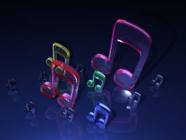 Music Notes Wallpaper by AMH05