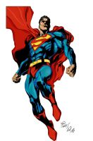 Superman Inked and Colored by hiasi