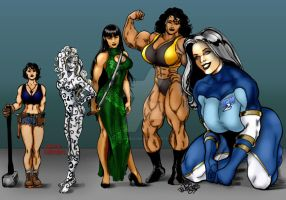 Ladies Line-up by Tom Burgos by THE-Darcsyde