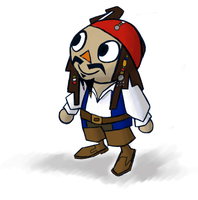 Animal Crossing Jack Sparrow by spaztic-demon