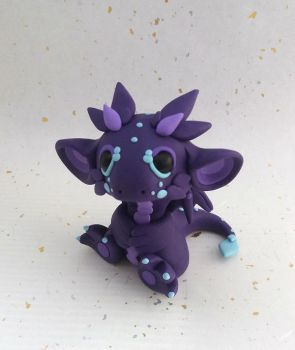 Purple and Blue Dragon by Critterkins