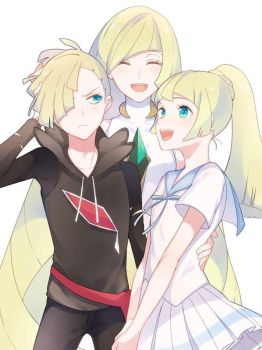 Lusamine and Family by Gameroverdose12
