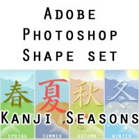 Kanji Seasons PS shape set by furryomnivore