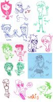 PnF doodles1 by MikiMonster