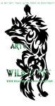 Tribal Climbing Insignia Wolf by WildSpiritWolf