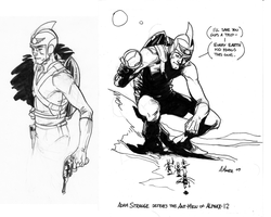 Adam Strange sketches by Laemeur
