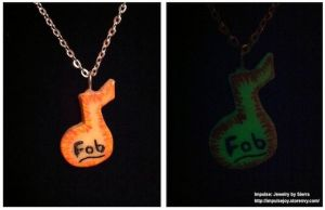 Fall Out Boy inspired, glow in the dark necklace by XxSierraRose