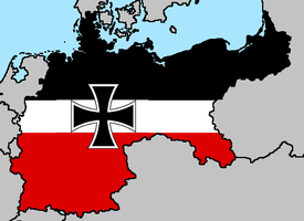 Flag Map of Imperial Germany by LtAngemon