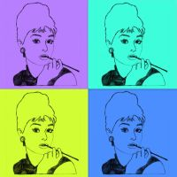 audrey pop art by whoslepe