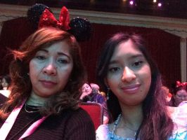 Me and Mom at Frozen Sing Along Celebration Show 2 by Magic-Kristina-KW