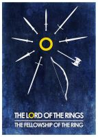 Fellowship Blue Poster by Eligius57