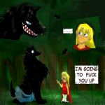 Red Riding Hood OWNS the wolf by VampireMeerkat