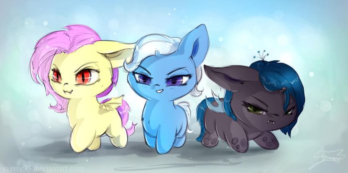 Naughty fillies by Sverre93