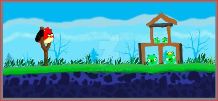 Angry Birds Comic WIP by Illismere
