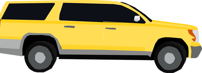 Yellow SUV by OceanRailroader