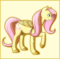 Pony style practice - Fluttershy by Arcticwaters