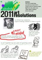 My 2011 Art Resolutions by KelliRoos