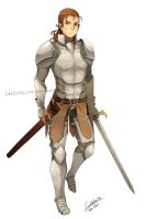 The Knight - Rinnoiel by faustsketcher
