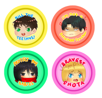 SNK Buttons! by Kay-land