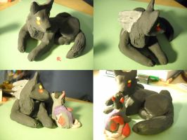 Immy and Seasong Sculpture by Angelwolf778