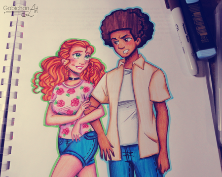 Huey and Jazmine by HananiArt