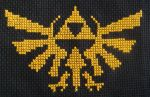 Hyrule Crest Cross Stitch by pixel8bit