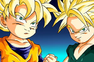 goten and trunks colored by Ninja-pineapple