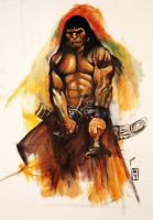 conan after frazetta by bashibozuk