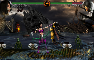Mortal Kombat X fake - Mileena Vs D'vorah by riki0017