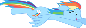 Happy Flying Rainbow Dash by mandydax