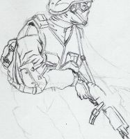 Sketch Tom Claney's soldier by Im-death