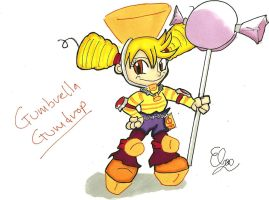 Sugar Rush Fan Character Gumbreila Gumdrop by Project-GAME