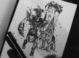 Dota2 Sketch - Undying by azuremizt