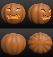3D Pumpkin by Leopardenschweif