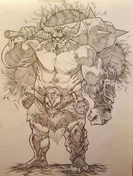 ORC WARRIOR by JordanMichaelJohnson