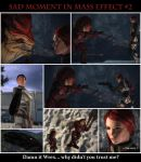 Sad moments in Mass Effect 2 by maqeurious
