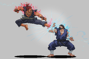 Akuma VS Goken -  Street Fighter Assassins Fist by Balthazar321