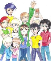 Kids of the Cul-De-Sac by KisaShika