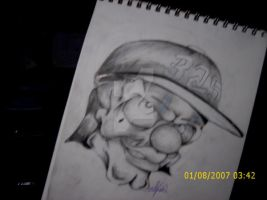 skull with 325 hat by k9-productions