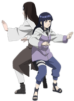 Neji e Hinata Hyuuga - lineart colored by DennisStelly