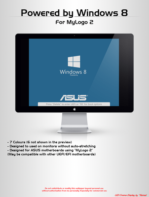 Powered by Windows 8 - MyLogo 2 by LordReserei