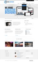 Creative PSD Template by themerboy