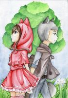 Wolf Who Fell In Love With Red Riding Hood - Exuka by Asu-hime